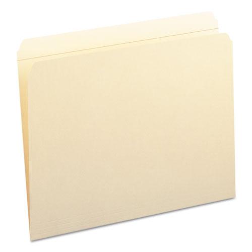 Reinforced Tab Manila File Folders, Straight Tab, Letter Size, 11 pt. Manila, 100/Box. Picture 6