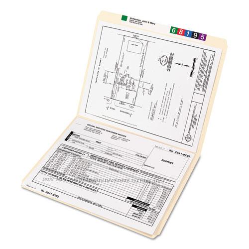 Reinforced Tab Manila File Folders, Straight Tab, Letter Size, 11 pt. Manila, 100/Box. Picture 7