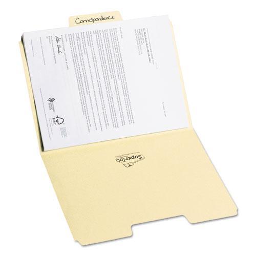 SuperTab Top Tab File Folders, 1/3-Cut Tabs, Letter Size, 11 pt. Manila, 100/Box. Picture 7