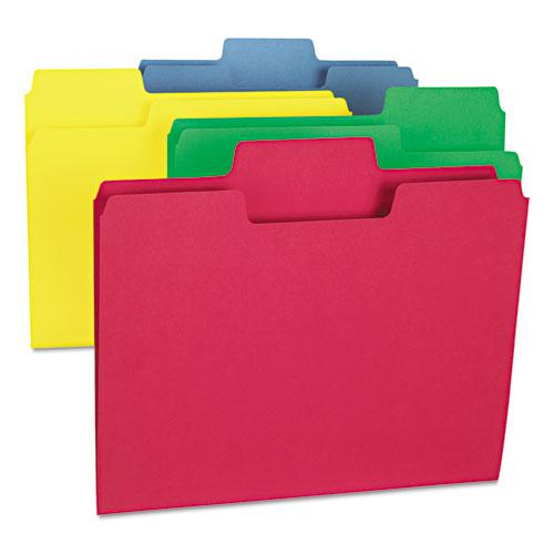 SuperTab Colored File Folders, 1/3-Cut Tabs, Letter Size, 11 pt. Stock, Assorted, 100/Box. Picture 2