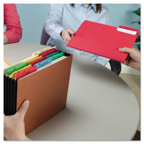 SuperTab Colored File Folders, 1/3-Cut Tabs, Letter Size, 11 pt. Stock, Assorted, 100/Box. Picture 3