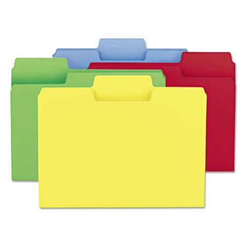 SuperTab Colored File Folders, 1/3-Cut Tabs, Letter Size, 11 pt. Stock, Assorted, 100/Box. Picture 4