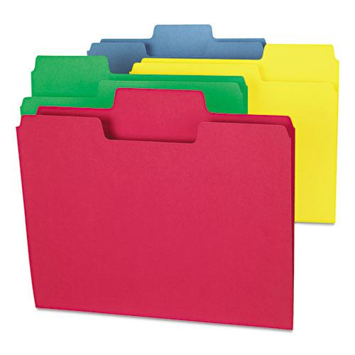 SuperTab Colored File Folders, 1/3-Cut Tabs, Letter Size, 11 pt. Stock, Assorted, 100/Box. Picture 6