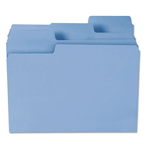 SuperTab Colored File Folders, 1/3-Cut Tabs, Letter Size, 11 pt. Stock, Blue, 100/Box. Picture 7