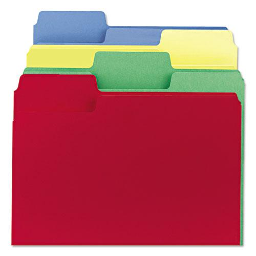 SuperTab Colored File Folders, 1/3-Cut Tabs, Letter Size, 11 pt. Stock, Assorted, 100/Box. Picture 7