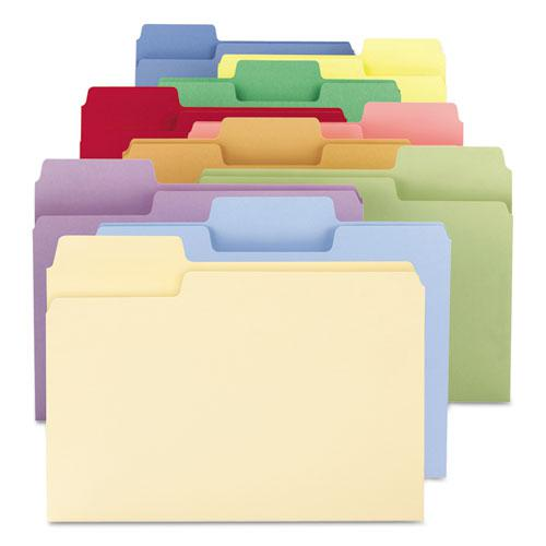 SuperTab Colored File Folders, 1/3-Cut Tabs, Letter Size, 11 pt. Stock, Assorted, 100/Box. Picture 8
