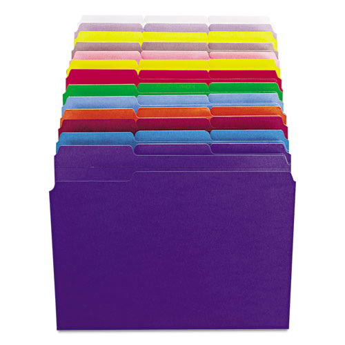 Reinforced Top Tab Colored File Folders, 1/3-Cut Tabs, Letter Size, Yellow, 100/Box. Picture 5