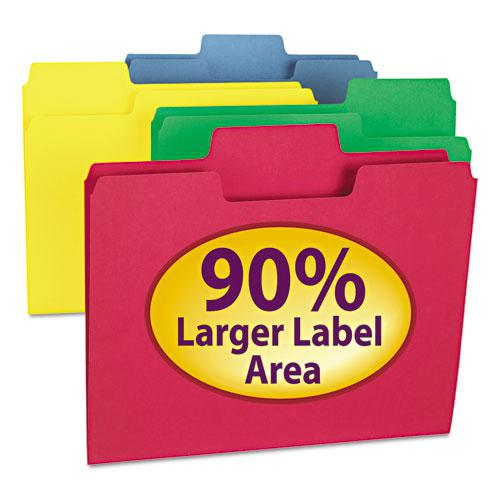 SuperTab Colored File Folders, 1/3-Cut Tabs, Letter Size, 11 pt. Stock, Assorted, 100/Box. Picture 11