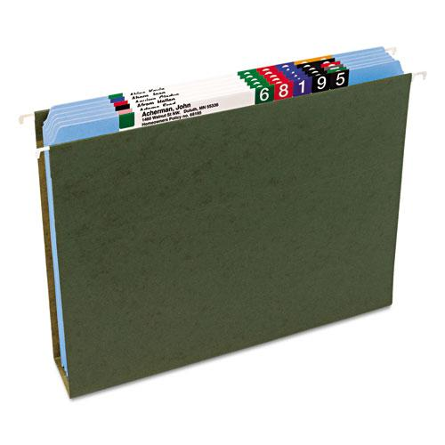 Reinforced Top Tab Colored File Folders, Straight Tab, Letter Size, Blue, 100/Box. Picture 8
