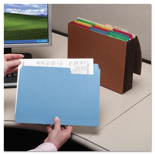 SuperTab Colored File Folders, 1/3-Cut Tabs, Letter Size, 11 pt. Stock, Assorted, 100/Box. Picture 12
