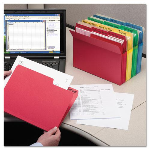 SuperTab Colored File Folders, 1/3-Cut Tabs, Letter Size, 11 pt. Stock, Assorted, 100/Box. Picture 13