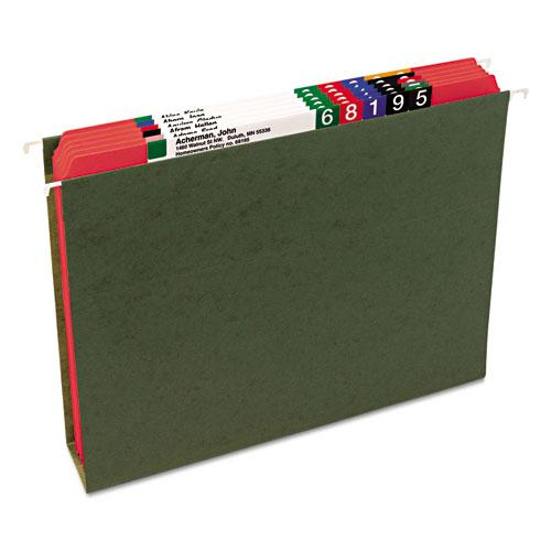 Reinforced Top Tab Colored File Folders, Straight Tab, Letter Size, Red, 100/Box. Picture 11