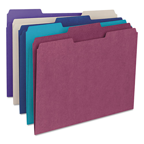 Colored File Folders, 1/3-Cut Tabs, Letter Size, Gray, 100/Box. Picture 6
