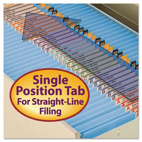 Reinforced Top Tab Colored File Folders, Straight Tab, Letter Size, Blue, 100/Box. Picture 11