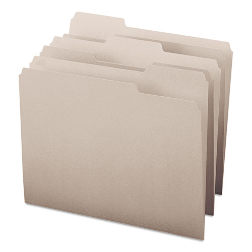 Colored File Folders, 1/3-Cut Tabs, Letter Size, Gray, 100/Box. Picture 8