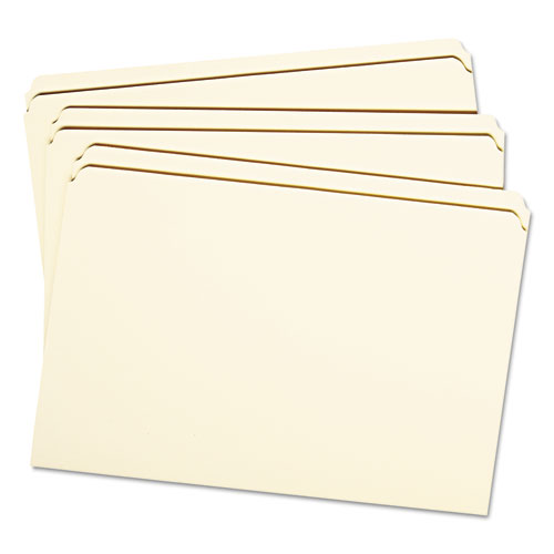 Reinforced Tab Manila File Folders, Straight Tab, Legal Size, 11 pt. Manila, 100/Box. Picture 2