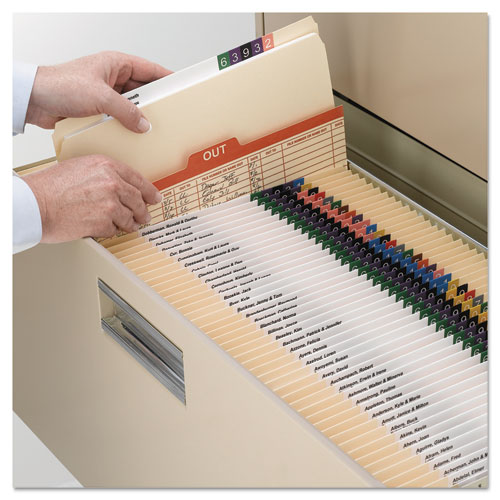 Reinforced Tab Manila File Folders, Straight Tab, Legal Size, 11 pt. Manila, 100/Box. Picture 3