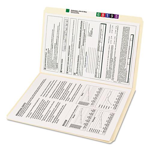 Reinforced Tab Manila File Folders, Straight Tab, Legal Size, 11 pt. Manila, 100/Box. Picture 4