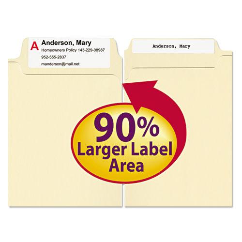 SuperTab Top Tab File Folders, 1/3-Cut Tabs, Legal Size, 11 pt. Manila, 100/Box. Picture 2