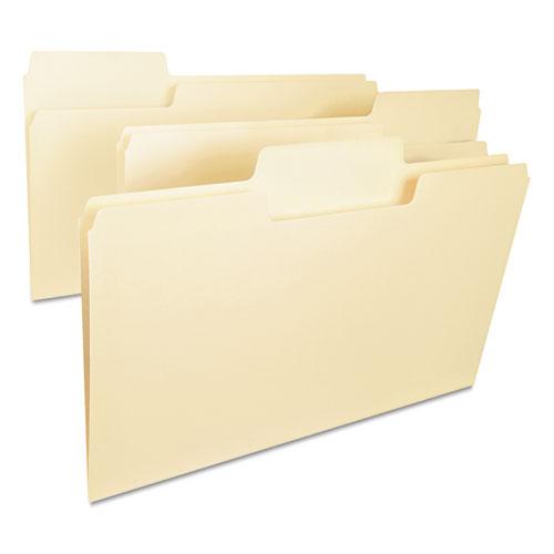 SuperTab Top Tab File Folders, 1/3-Cut Tabs, Legal Size, 11 pt. Manila, 100/Box. Picture 3