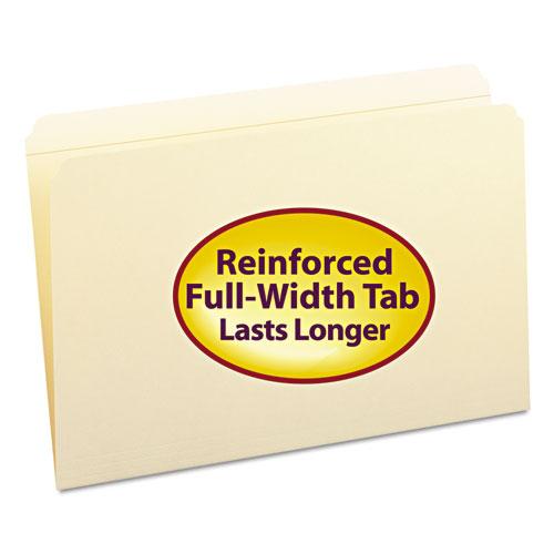Reinforced Tab Manila File Folders, Straight Tab, Legal Size, 11 pt. Manila, 100/Box. Picture 1