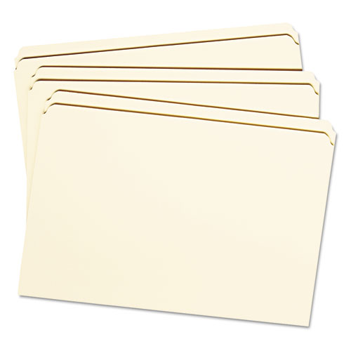 Reinforced Tab Manila File Folders, Straight Tab, Legal Size, 11 pt. Manila, 100/Box. Picture 6