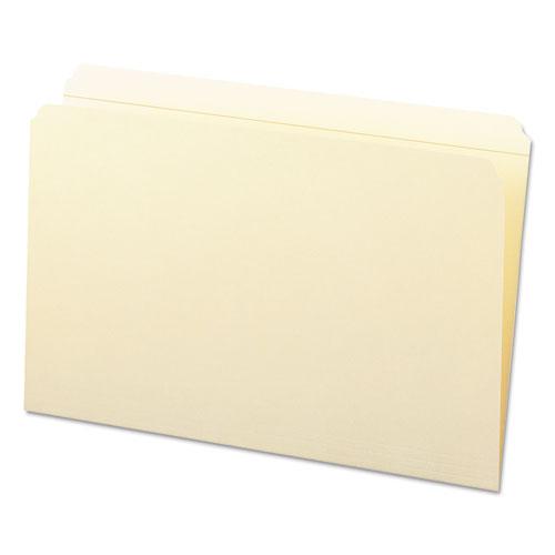 Reinforced Tab Manila File Folders, Straight Tab, Legal Size, 11 pt. Manila, 100/Box. Picture 8