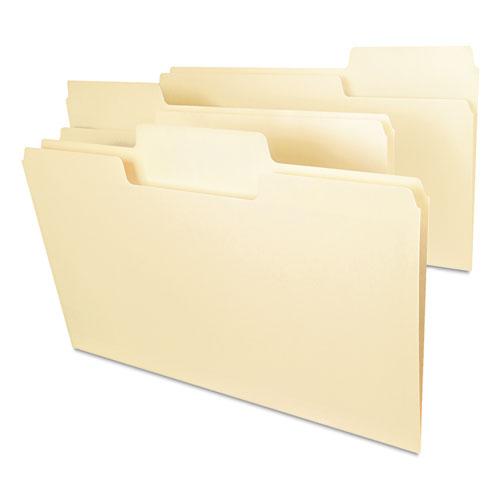 SuperTab Top Tab File Folders, 1/3-Cut Tabs, Legal Size, 11 pt. Manila, 100/Box. Picture 6