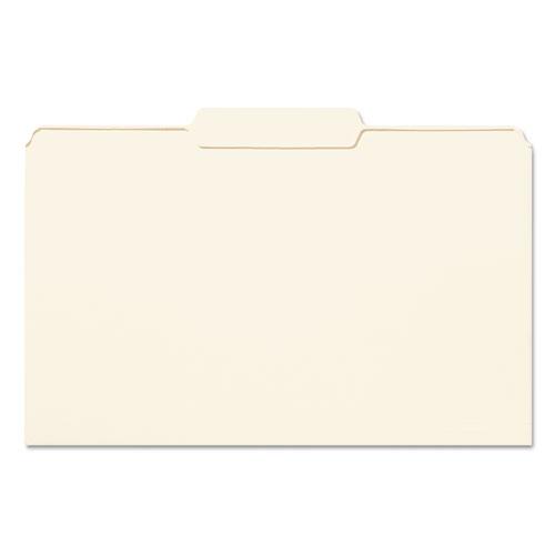Manila File Folders, 1/3-Cut Tabs, Center Position, Legal Size, 100/Box. Picture 1