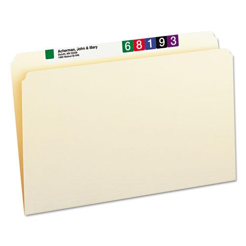Manila File Folders, Straight Tab, Legal Size, 100/Box. Picture 1