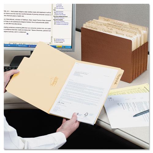 SuperTab Top Tab File Folders, 1/3-Cut Tabs, Legal Size, 11 pt. Manila, 100/Box. Picture 8