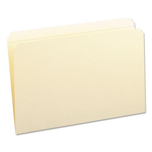 Reinforced Tab Manila File Folders, Straight Tab, Legal Size, 11 pt. Manila, 100/Box. Picture 10