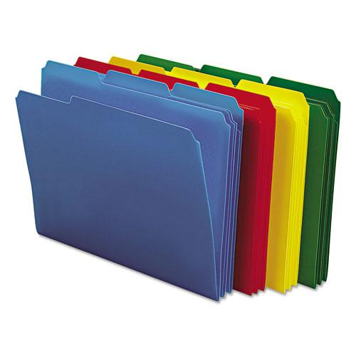 Top Tab Poly Colored File Folders, 1/3-Cut Tabs, Letter Size, Assorted, 24/Box. Picture 5