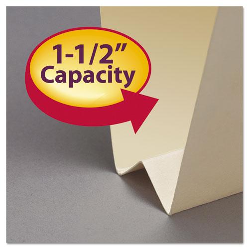 Expandable Heavyweight File Folders, 1/3-Cut Tabs, Letter Size, Manila, 50/Box. Picture 5