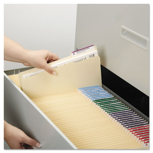 Manila File Folders, 1/3-Cut Tabs, Right Position, Letter Size, 100/Box. Picture 9