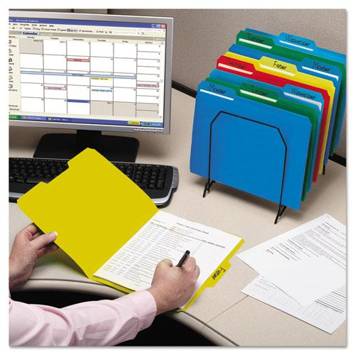 Top Tab Poly Colored File Folders, 1/3-Cut Tabs, Letter Size, Assorted, 24/Box. Picture 7