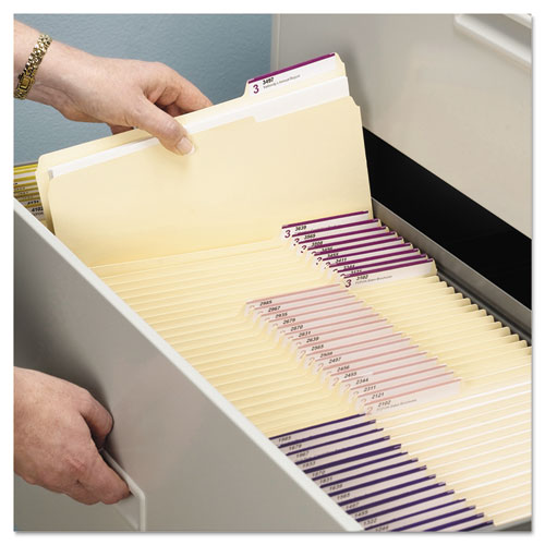 Top Tab File Folders with Antimicrobial Product Protection, 1/3-Cut Tabs, Letter Size, Manila, 100/Box. Picture 8