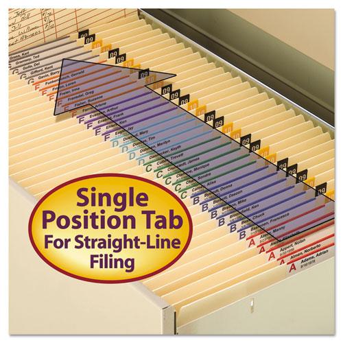 Reinforced Tab Manila File Folders, Straight Tab, Letter Size, 11 pt. Manila, 100/Box. Picture 8