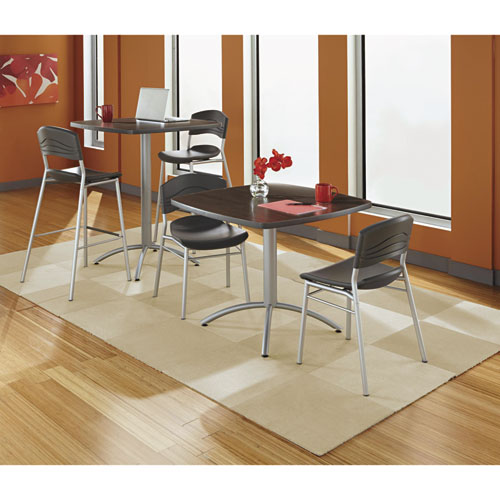 Iceberg CaféWorks Café Chairs, 2-Pack, Graphite. Picture 4