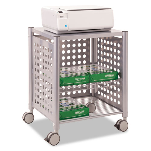 Deskside Machine Stand, Two-Shelf, 21.5w x 17.88d x 27h, Matte Gray. Picture 1