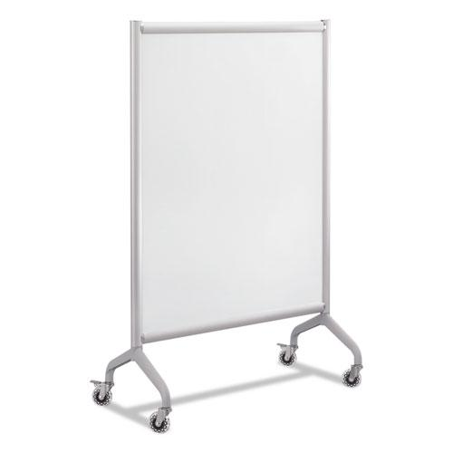 Rumba Full Panel Whiteboard Collaboration Screen, 36w x 16d x 54h, White/Gray. Picture 1