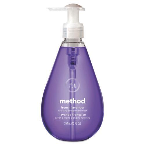 Gel Hand Wash, French Lavender, 12 oz Pump Bottle. Picture 1