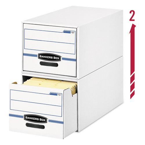 """STOR/DRAWER Basic Space-Savings Storage Drawers, Letter Files, 14"""" x 25.5"""" x 11.5"""", White/Blue, 6/Carton. Picture 3"""