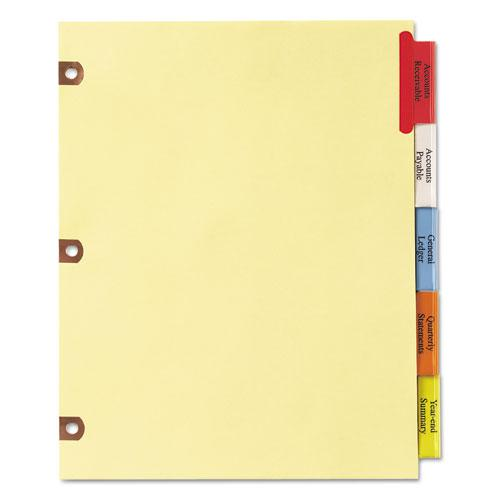 Insertable Big Tab Dividers, 5-Tab, Letter. Picture 4
