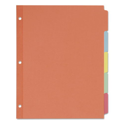 Write and Erase Plain-Tab Paper Dividers, 5-Tab, Letter, Multicolor, 36 Sets. Picture 3