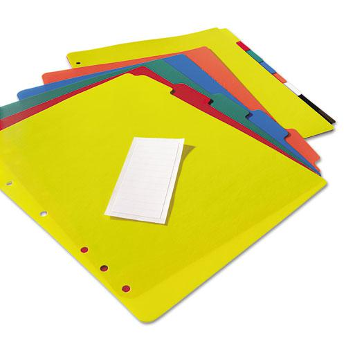 Heavy-Duty Plastic Dividers with Multicolor Tabs and White Labels , 5-Tab, 11 x 8.5, Assorted, 1 Set. Picture 5