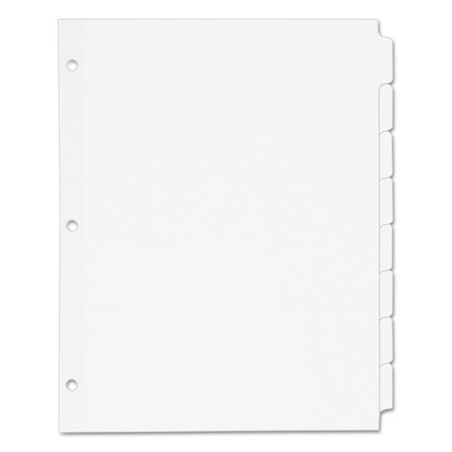 Write and Erase Plain-Tab Paper Dividers, 8-Tab, Letter, White, 24 Sets. Picture 3