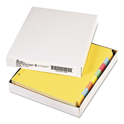 Write and Erase Plain-Tab Paper Dividers, 8-Tab, Letter, Multicolor, 24 Sets. Picture 3