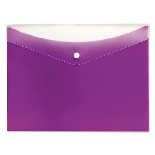 Poly Snap Envelope, Snap Closure, 8.5 x 11, Grape. Picture 1
