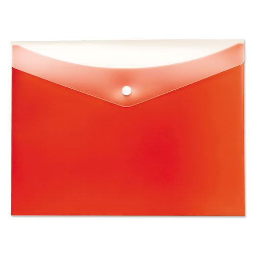 Poly Snap Envelope, Snap Closure, 8.5 x 11, Tangerine. Picture 1